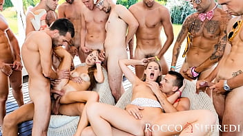 Those Two Teens Have The Biggest Gangbang Of Their Life!