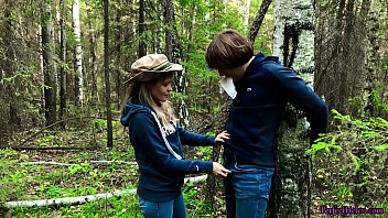 Stranger Arouses, Sucks and Hard Fuckes in the Forest of Tied Guy Outdoor