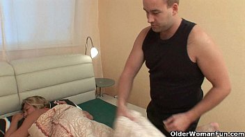 Crazy mature old Grandma gets fucked balls deep
