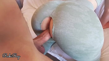 Teasing My Horny Ex Boyfriend While Training To Fuck n Creampie Me Deep