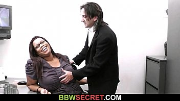 Beautiful chubby secretaries Married boss seduces his fat ebony secretary
