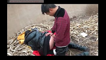 Chinese Couple Fucks In Public