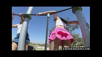 Tiny Asian Teens Share Big Cock!