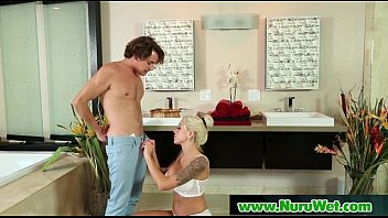 Nuru Slippery Gel On Sexy Horny Client And Relaxing Massage 19