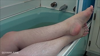 Feet, pumice, and a bath