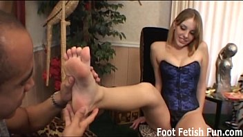 Feet fetish video clips Get on your knees and lick my feet