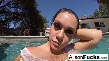 Buxom Alison Tyler takes a bath and masturbates