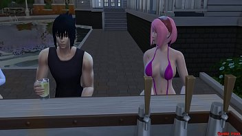 Sasuke y Sakura Dia Romantico Sexo en Publico Naruto Hentai صورة