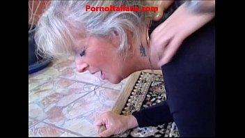 Granny blond Hot - very slutty old blonde sucks cock