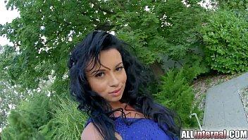 AllInternal Anal creampie for hot brunette who loves a rough fuck