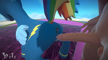 MLP POV GAME Rainbow dash gets fucked in her wonderbolts outfit