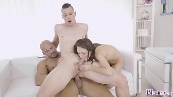 Tomm pounding Dominica Phoenix on top while cock fed!