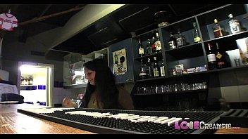 Love Creampie Horny Barmaid gets internal cumshot on the bar table 11 min