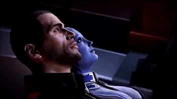 Mass Effect - Liara T'soni and Shepard Romance - Compilation 12 min