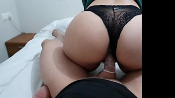 I fuck a beautiful latina with a big ass and cum on her ass!