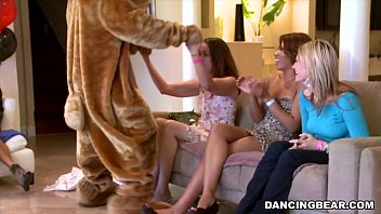 Jordan's Divorcerette CFNM Dancing Bear Party with Male Strippers (db9527)