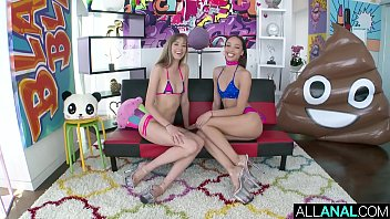 ALL ANAL Sloppy ass to mouth fun with Haley Reed And Alexis Tae