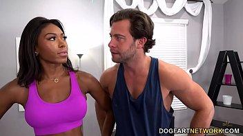 Fake Yoga Teacher Fucks Busty Ebony Nadia Jay