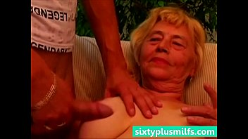 Youg mom porn Granny titty fucks her young lover