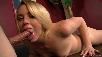Petite Miley Mae sucking a hard cock