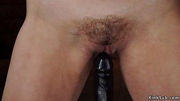 Hardcore bondage and fucking machines - Sexy tied blonde is bound machine fucked