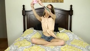 Alina West Sexts Her Man Then Plays With Her Tight Teen Pussy