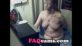 Lovely Granny with Glasses on Webcam  - www.FAQcams.com