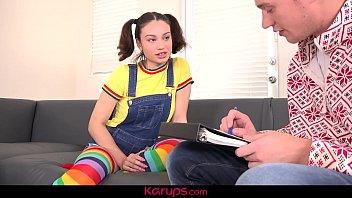 Karups - Teen Latina Liv Wild Rewards Tutor With Hard Fuck 9 min