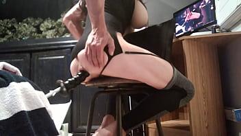 hot brunette Sissy anal