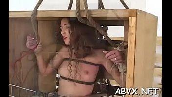 Free lesbian sex bondage - Coarse lesbian bondage in amateur scenes along hot sweethearts