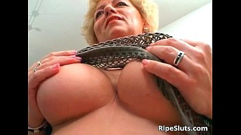Busty mature blonde gets pussy fucked
