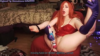 Milf Dressed as Jessica Rabbit Cums for You