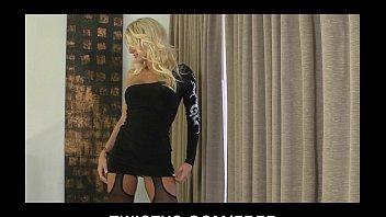 HOT blond MILF Alicia Secrets teases & masturbates in stockings 6 min