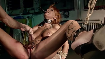 Seductive gorgeous milf Leonie tied, enslaved me. Part 2. My kinky games before I fuck her ass hole.