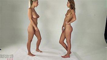 Blonde Girl Clit Vs Clit Lesbian Tribadism Sex Fight
