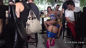 Blonde slave anal banged in public 5 min
