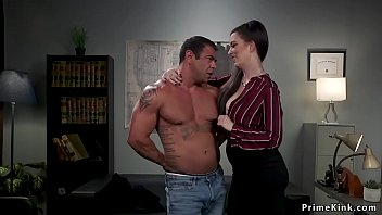Femdom boss anal bangs male assistant