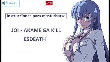 JOI EN ESPAÑOL con Esdeath. ¡Preparaté esclavo! Akame ga kill.