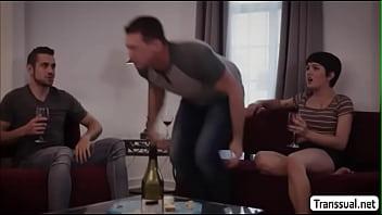 TS Daisy tries sucking Stepbros harddick
