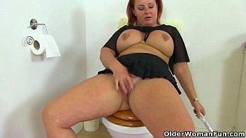 Newcastle xxx sarah jane - English bbw sarah jane gets busy with a dildo in bathroom