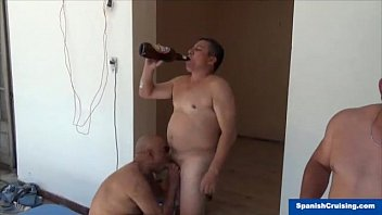 Gay office workers Str8 construction workers serviced
