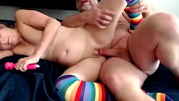 Mature Mom And Dad Enjoy A Good Fuck Pussy And Anal He Jacks Off On Her Cunt