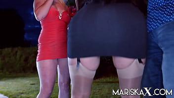 MARISKAX Big tit babe Nelly Kent ass fucked at a party 10 min