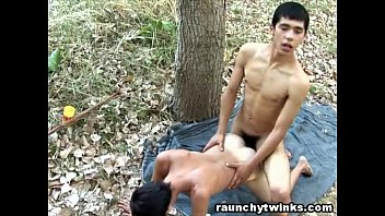 Caught Teen Boys Having Sex Out In The Woods