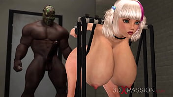 Sexy Cuffed Blonde With Big Tits Gets Fucked By A Black Big Cock