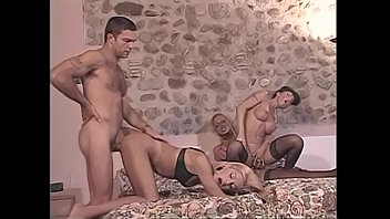 Busty shemales loves to experiment with a whore and a dude in bed