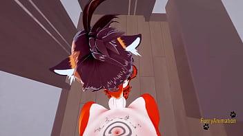Furry Hentai 3D - POV Tigress blowjob and gets fucked by fox - Japanese manga anime yiff cartoon porn 11 min