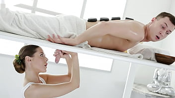 Milking Table Surprise on Big Cock | Massage Rooms