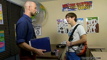 Teaching the gay student a lesson - Hung teacher abuses his power