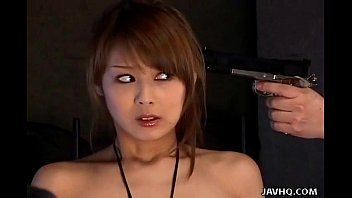 Japanese cum sucking Japanese spy babe gives a hot double blowjobs uncensored